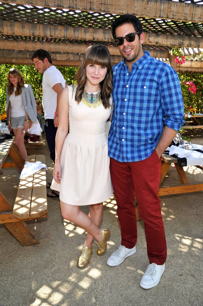 Sophia Bush and Eli Roth hung out at Bazaar's Coachella party.