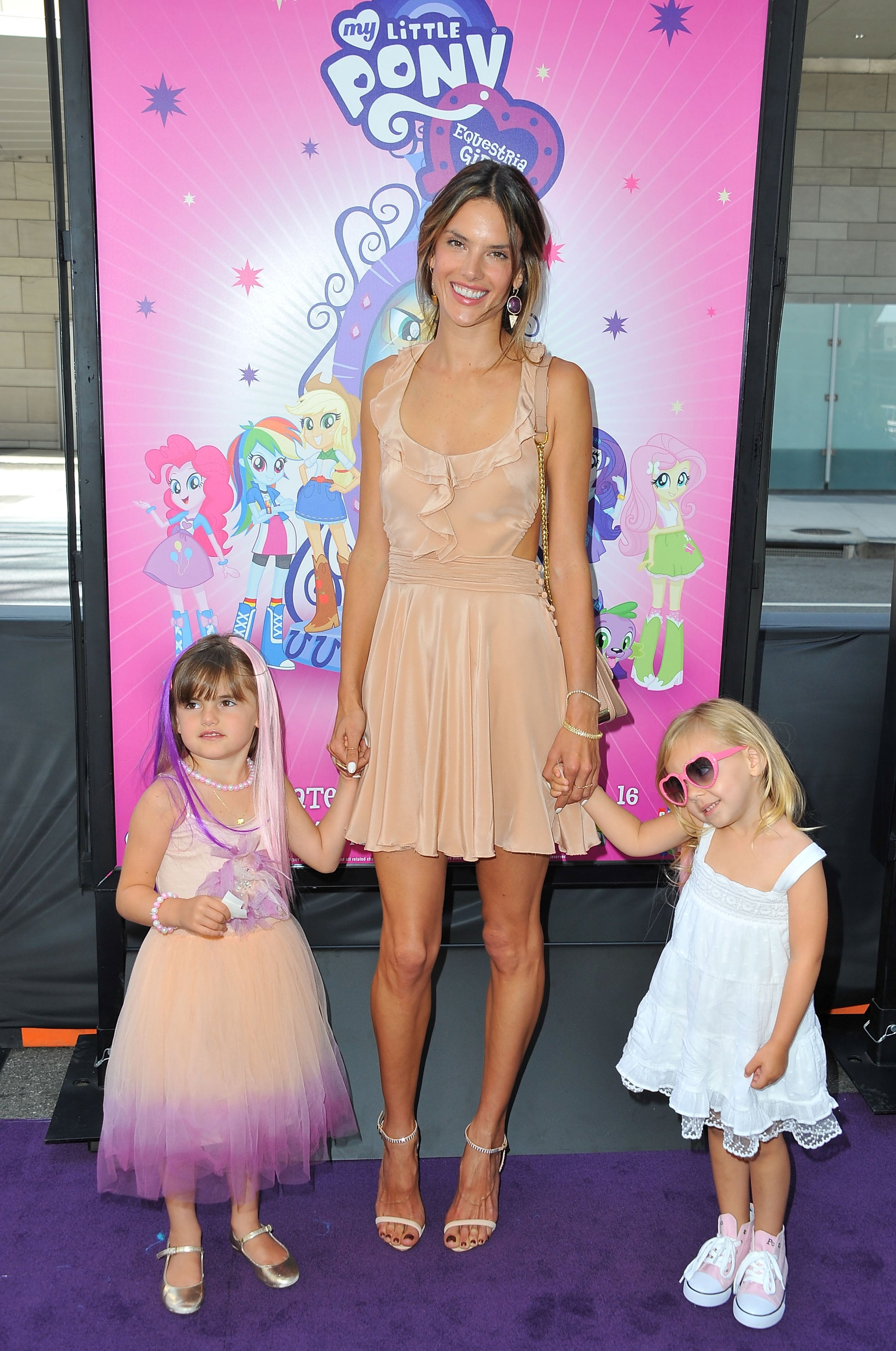 Alessandra Ambrosio brought her daughter, Anja, and a friend to the premiere of My Little Pony: Equestria Girls.
