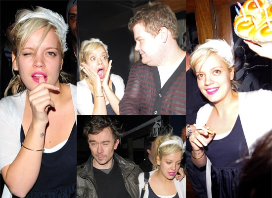 Lily Allen, James Corden And Robertson Furze Out For Dinner On The Eve Of Lily's 23rd Birthday