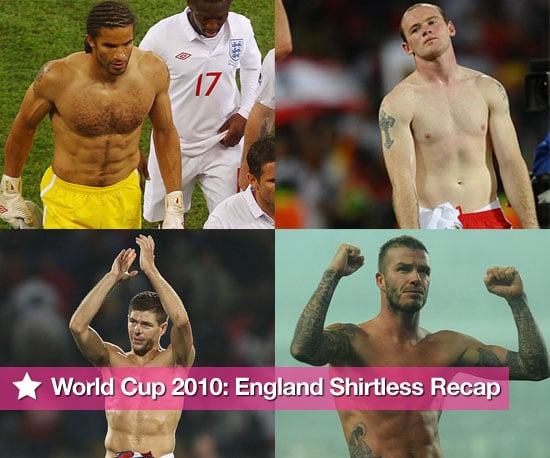 Pictures of Shirtless England Football Players From the 2010 World Cup Including David James, David Beckham, Steven Gerrard