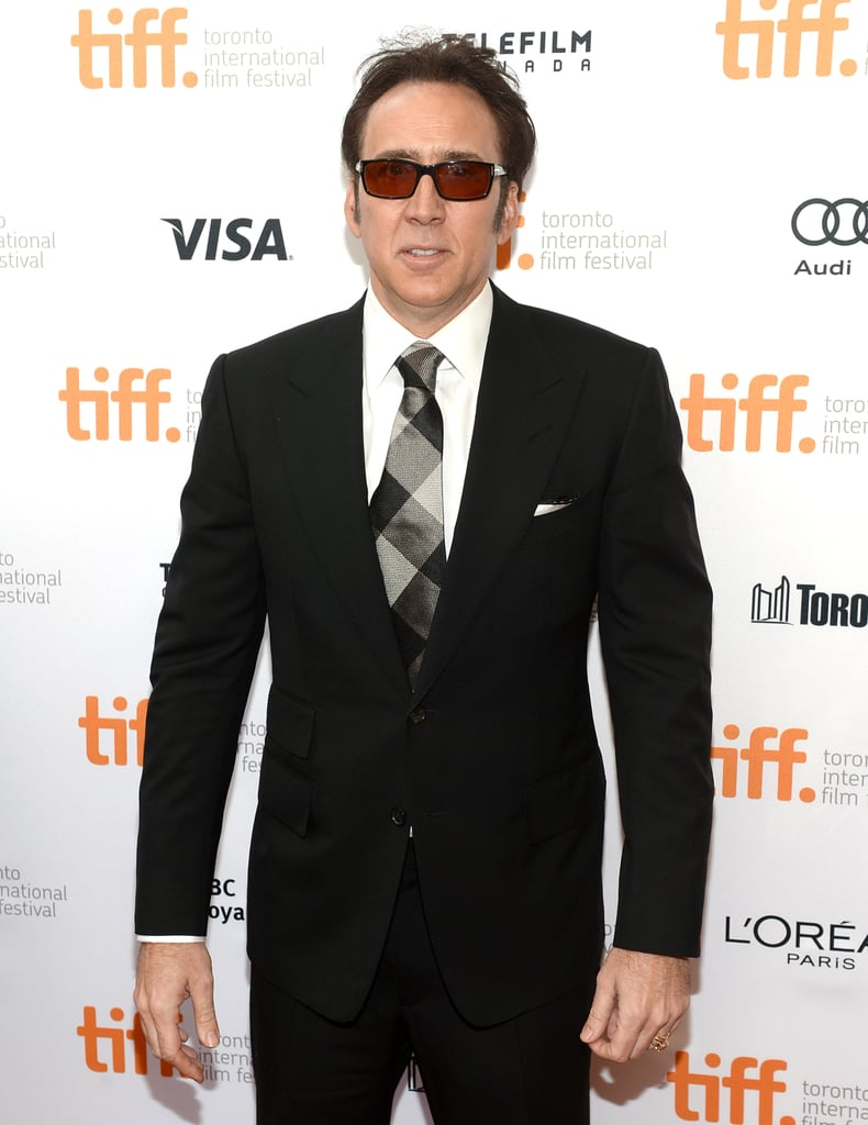 Nicolas Cage sported some shades for the premiere of Joe.