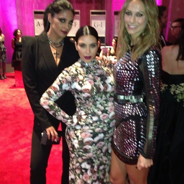 Kim Kardashian chatted with Stacy Keibler and Rachel Roy on the red carpet. Source: Instagram user rachel_roy