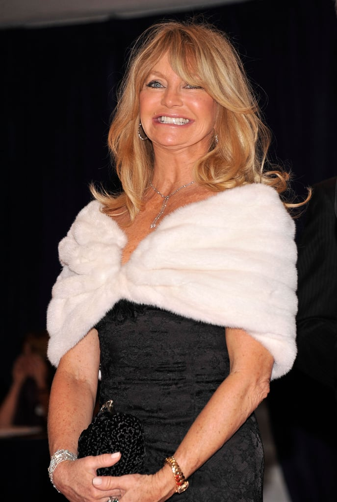 Goldie Hawn smiled for the camera at the White House Correspondant's Dinner.