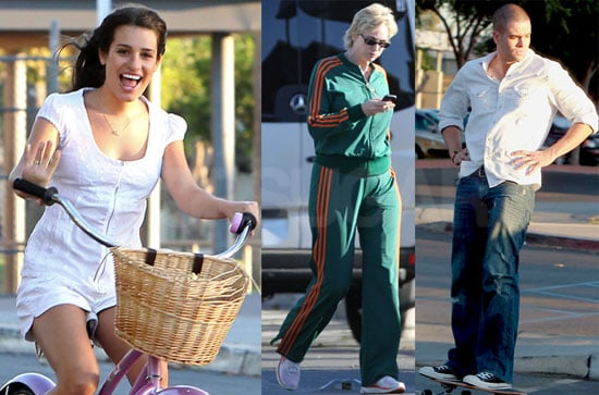 Pictures of Lea Michelle, Jane Lynch and Mark Salling