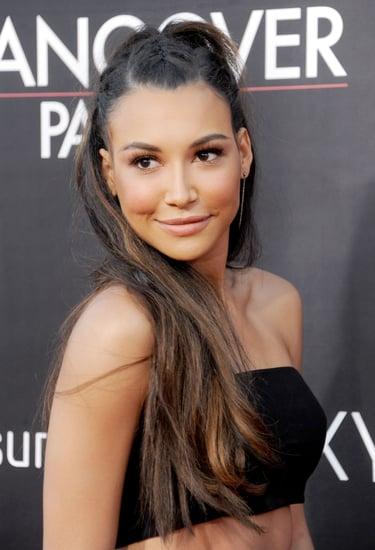 Naya-Rivera-dressed-up-her-blowout-tiny-French-braids