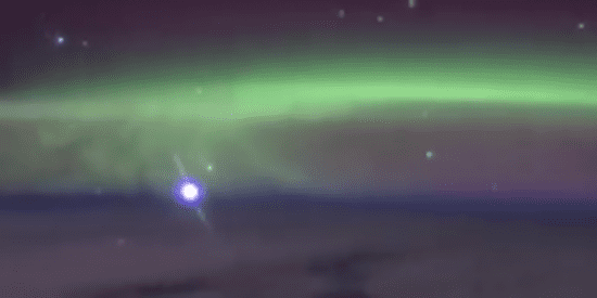 Venus Rises Behind The Aurora In Stunning Time-Lapse Filmed From Space