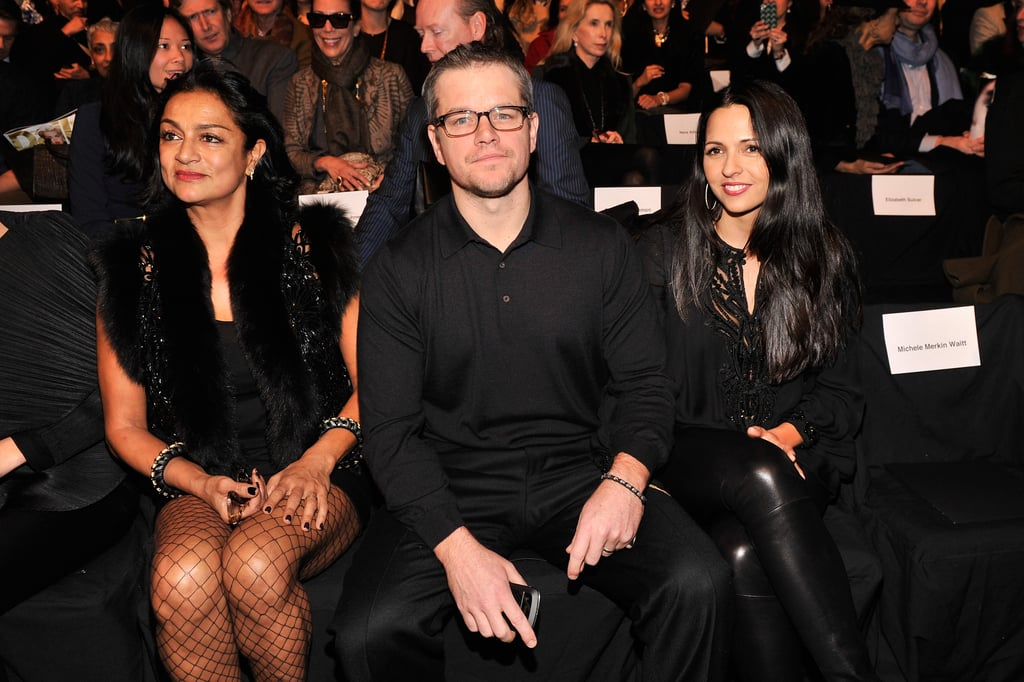Matt Damon Does NYFW in the Front Row With Luciana