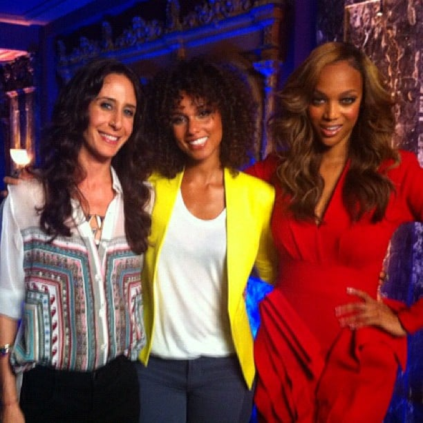 Alicia Keys was a judge on ANTM with Mara Hoffman and Tyra Banks. Source: Instagram user aliciakeys