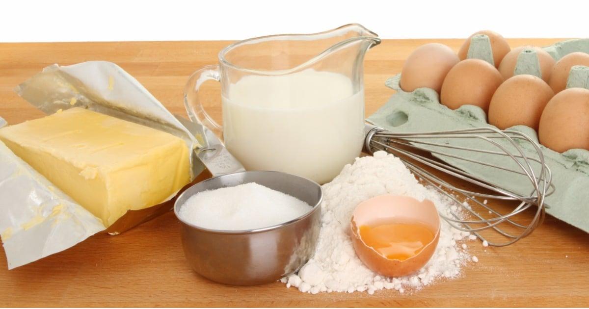 Рецепт яйца молоко мука сахар