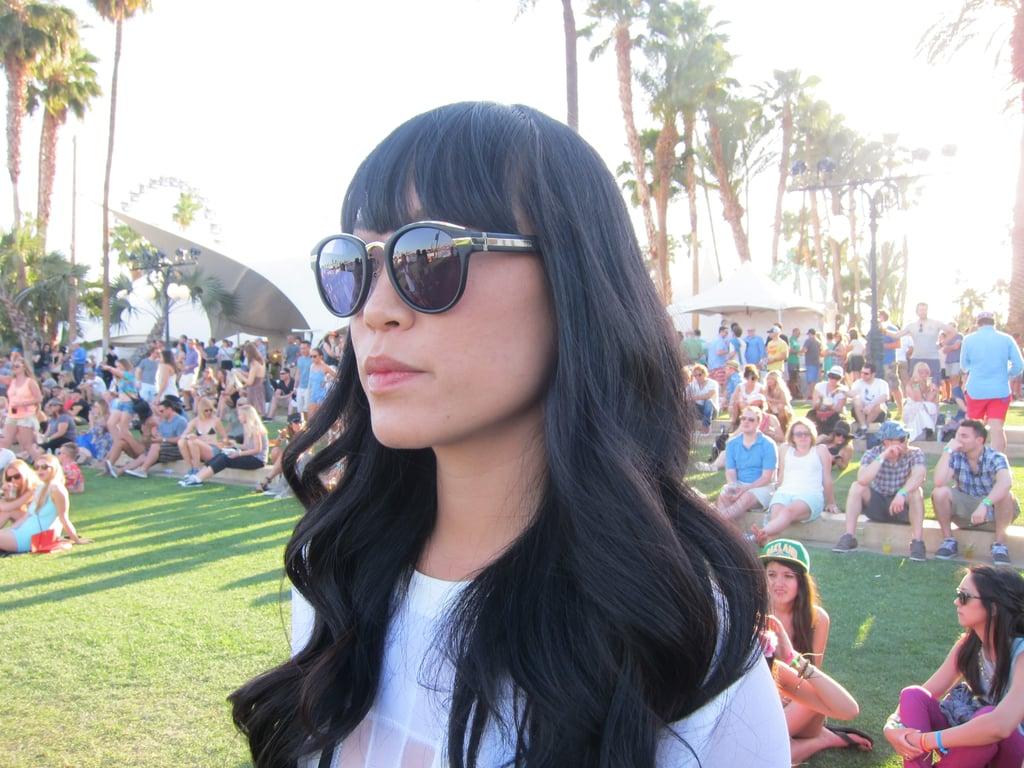 Wavy, jet-black hair is the ultimate in cool-girl chic. Photo: Meg Cuna