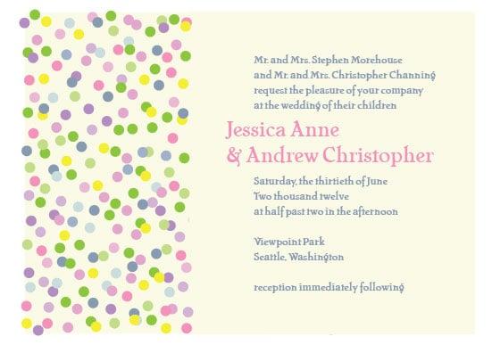 Sprinkles Wedding Invitation