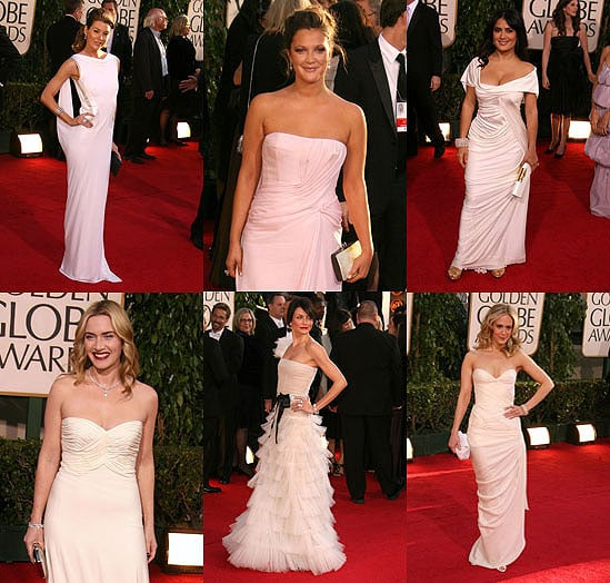 The Golden Globes Red Carpet: Visions in White