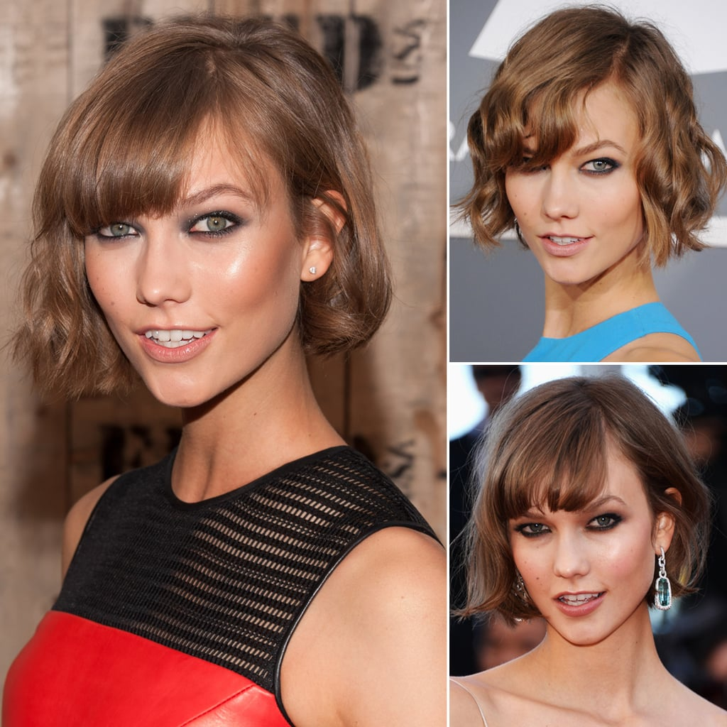 Who: Karlie Kloss The look: Smoky eyes Whether it's a formal red carpet or a casual beach party, Karlie Kloss loves to line her eyes in smoky kohl. It's a seriously sultry complement to her light, playful lob.