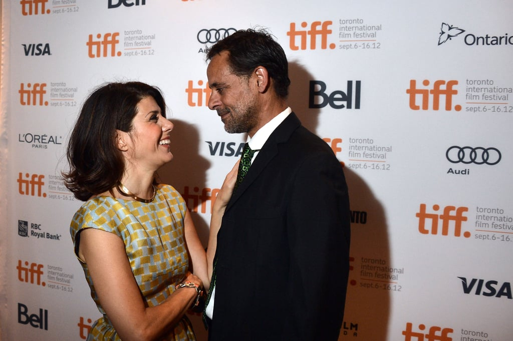 Marisa Tomei linked up with Alexander Siddig on the red carpet at the Inescapable premiere at the Toronto International Film Festival.