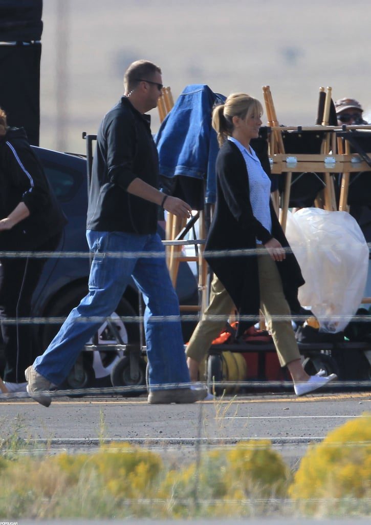 Jennifer Aniston was in New Mexico to film.
