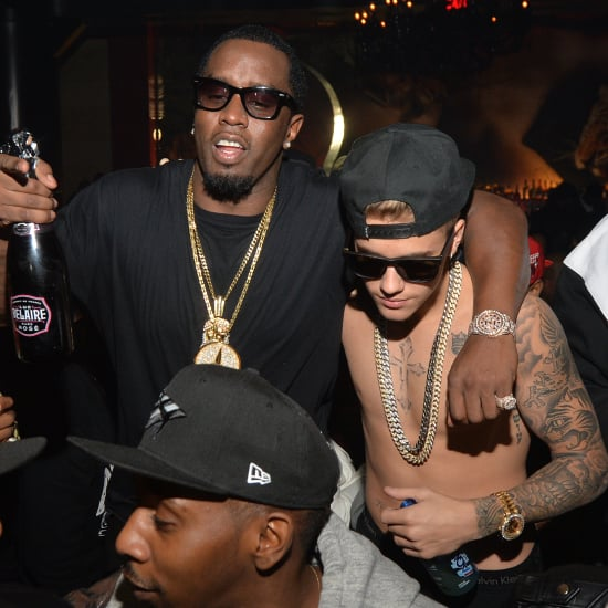 Justin Bieber Shirtless in the Club With Diddy