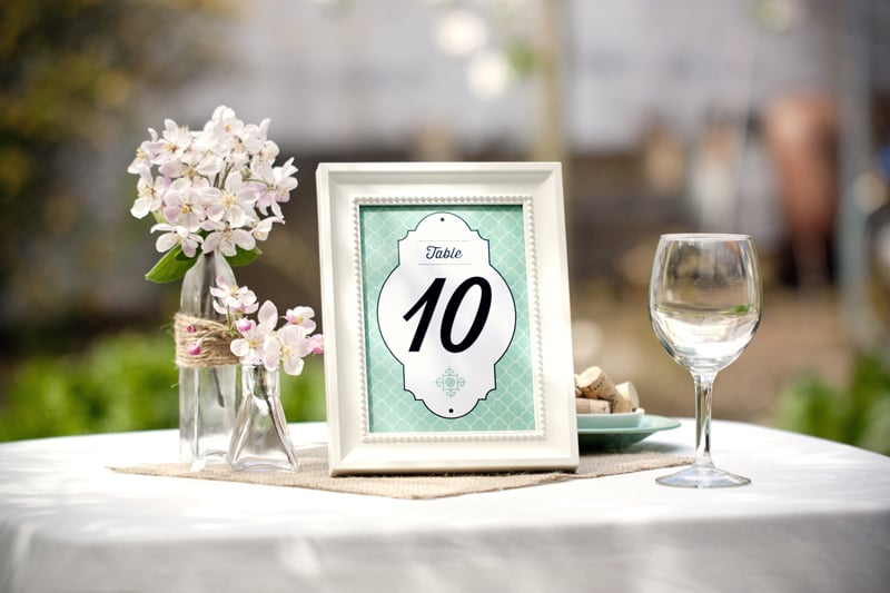 Moroccan Table Numbers