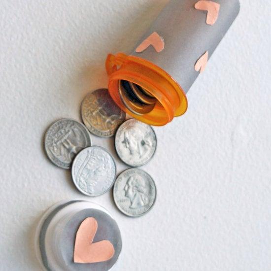 Pill Bottle Quarter Holder