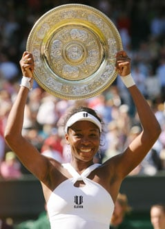 Photo of Venus Williams at the Wimbledon