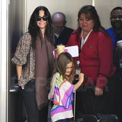 Pictures of Courteney Cox and Coco Arquette Leaving LAX