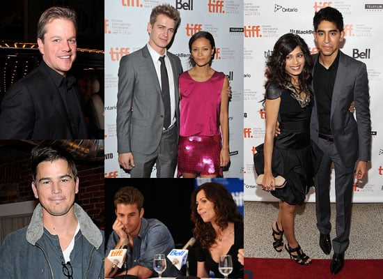 Pictures of Josh Hartnett, Freida Pinto, Dev Patel, Minnie Driver and Matt Damon at the 2010 Toronto Film Festival