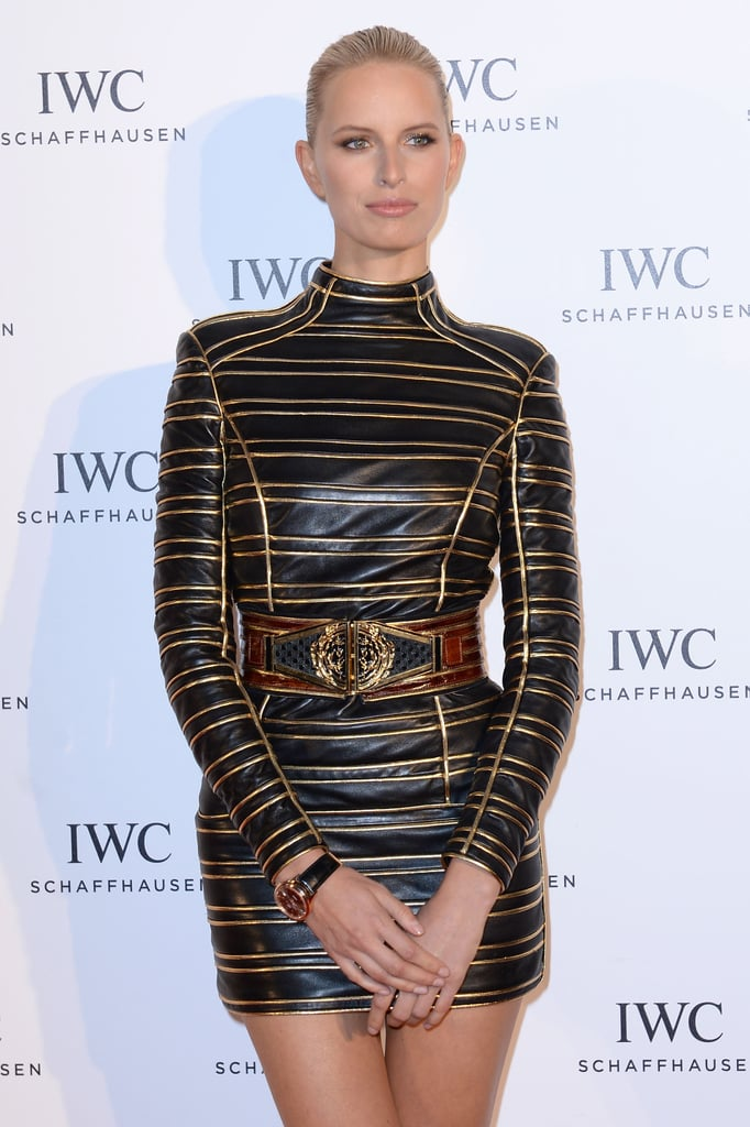 Showing off her gorgeous features, Karolina Kurkova slicked back her hair for the For the Love of Cinema event at Cannes.