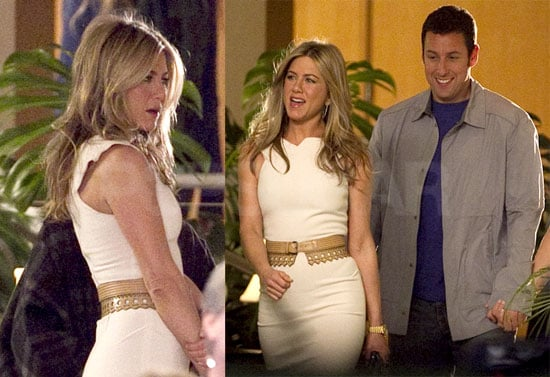 Photos of Jennifer Aniston With Adam Sandler and Brooklyn Decker on Set of Just Go With It in LA