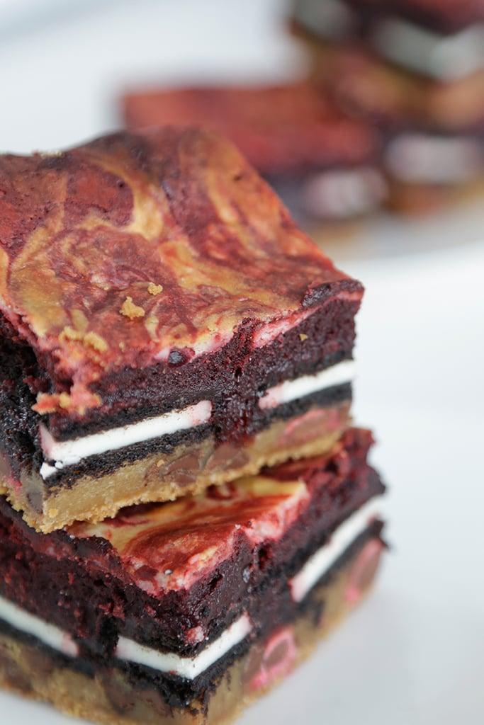 Red Velvet Slutty Brownies