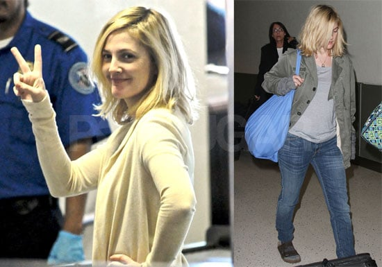 Photos of Drew Barrymore at JFK and LAX