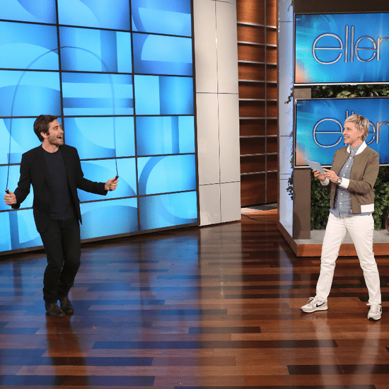 Jake Gyllenhaal Jumps Rope on Ellen April 2015