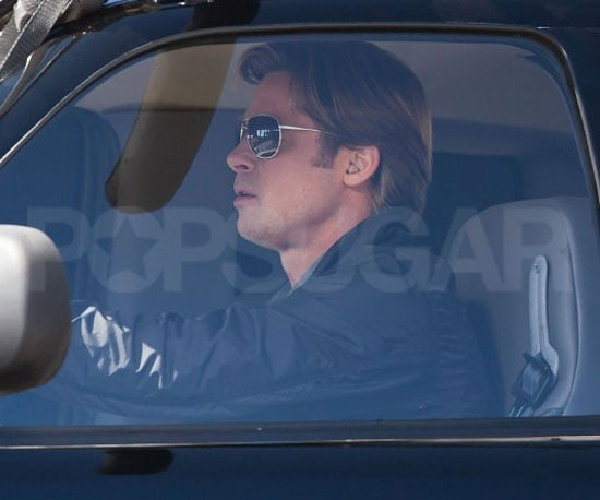 Pictures of Brad Pitt on the Set of Moneyball in LA