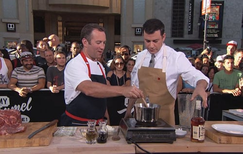 Watch Jimmy Kimmel Grill Meat With Adam Perry Lang