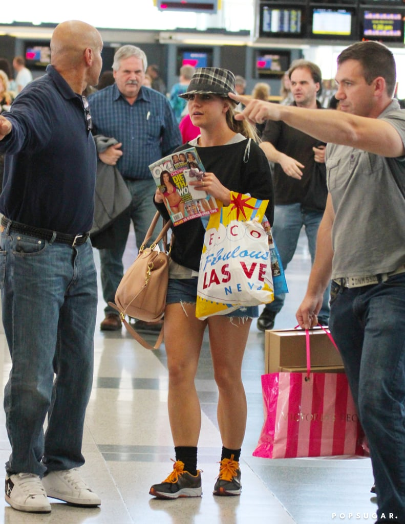 Britney Spears left Las Vegas on Sunday.