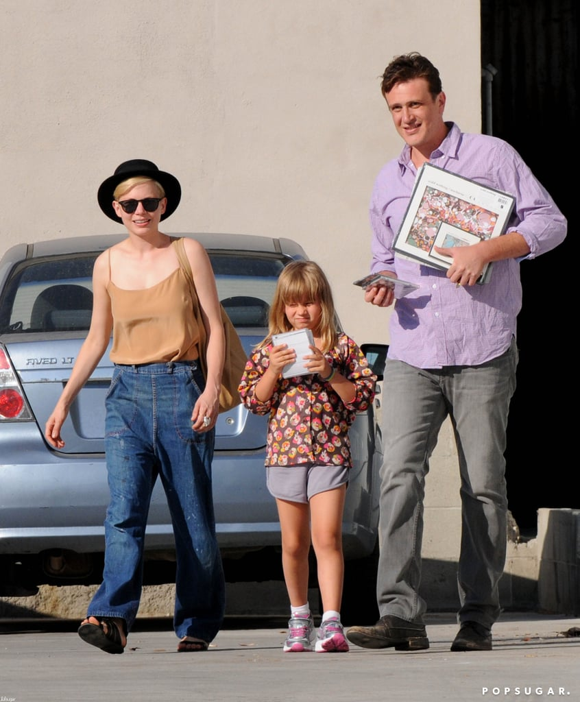 Michelle Williams, Jason Segel, and Matilda Ledger were spotted out and about together in LA.