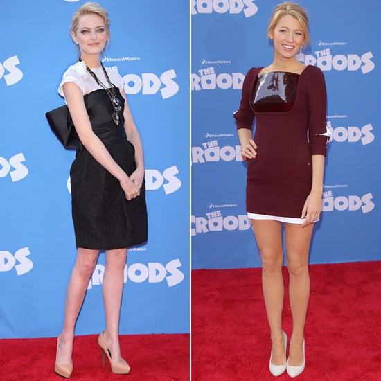 Emma Stone and Blake Lively continued their style A-game at The Croods premiere.