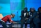 "Pharrell Williams bowed down to Daft Punk as the duo accepted its award for ""Get Lucky."""