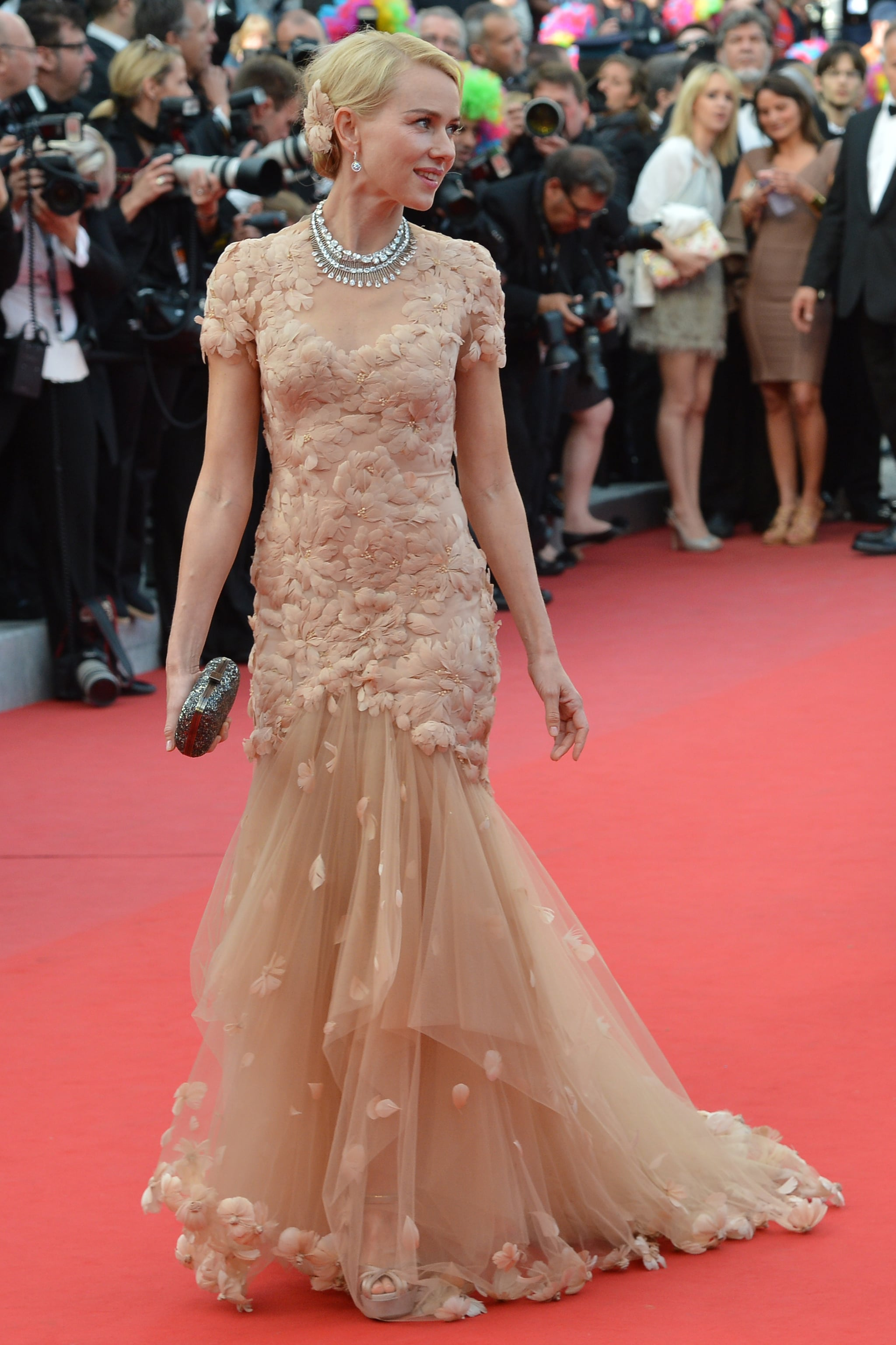 Naomi Watts wore a Marchesa gown for a screening of Madagascar 3: Europe's Most Wanted during the 2012 Cannes Film Festival.