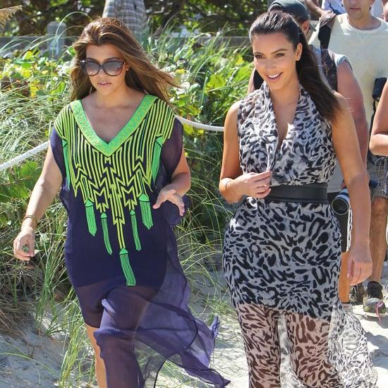 Kim and Kourtney Kardashian in Miami   Pictures