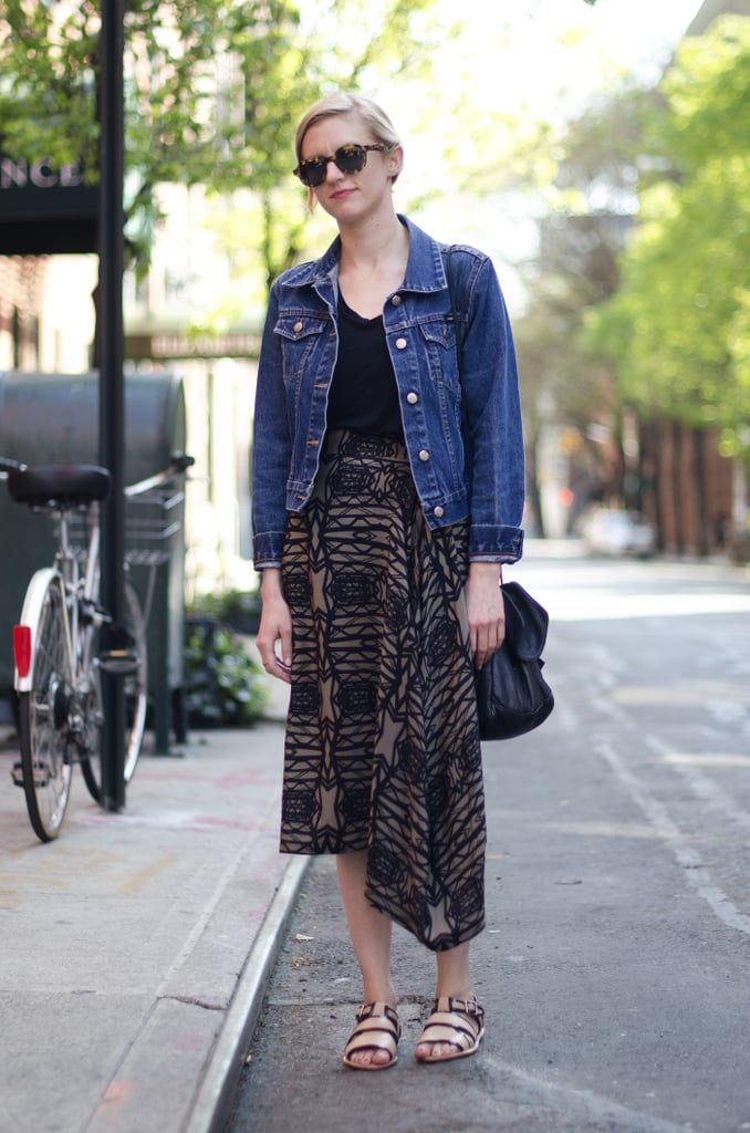 Give your tribal-inspired prints a classic Summer counterpart with a jean jacket.
