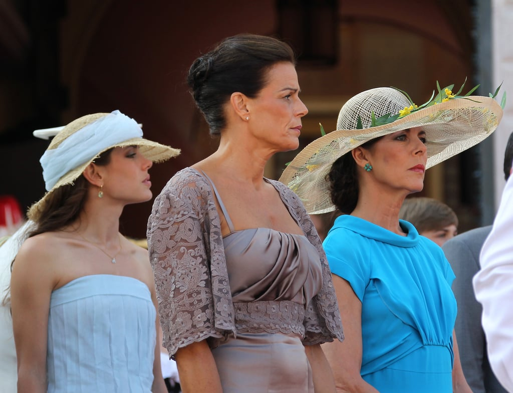 Charlotte stood with her aunt Princess Stephanie of Monaco and her mother, Princess Caroline of Hanover, as they arrived at Prince Albert and Charlene's civil wedding ceremony in July 2011.
