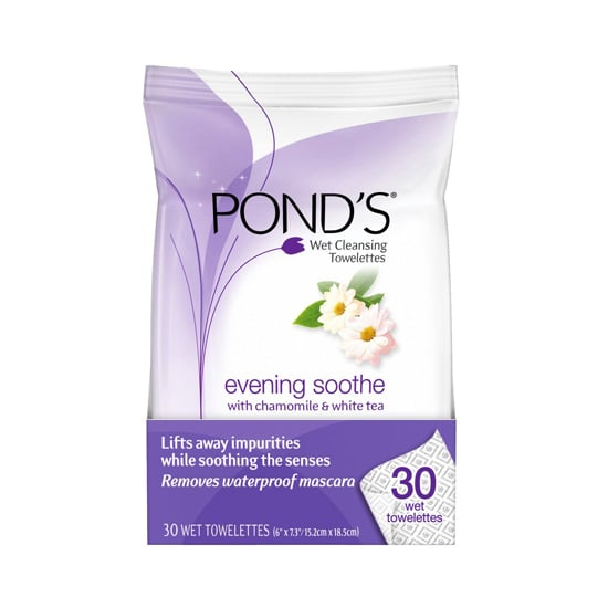 Stash the Pond's Evening Soothe Wet Cleansing Towelettes ($6) by your bed. The blend of chamomile and white tea leaves you feeling relaxed, while the wipes gently wash away the day — including waterproof mascara.