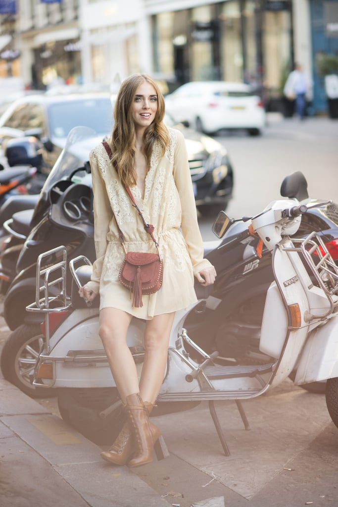 Chiara Ferragni opted for head to toe Chloe during Paris Haute Couture Fashion Week.