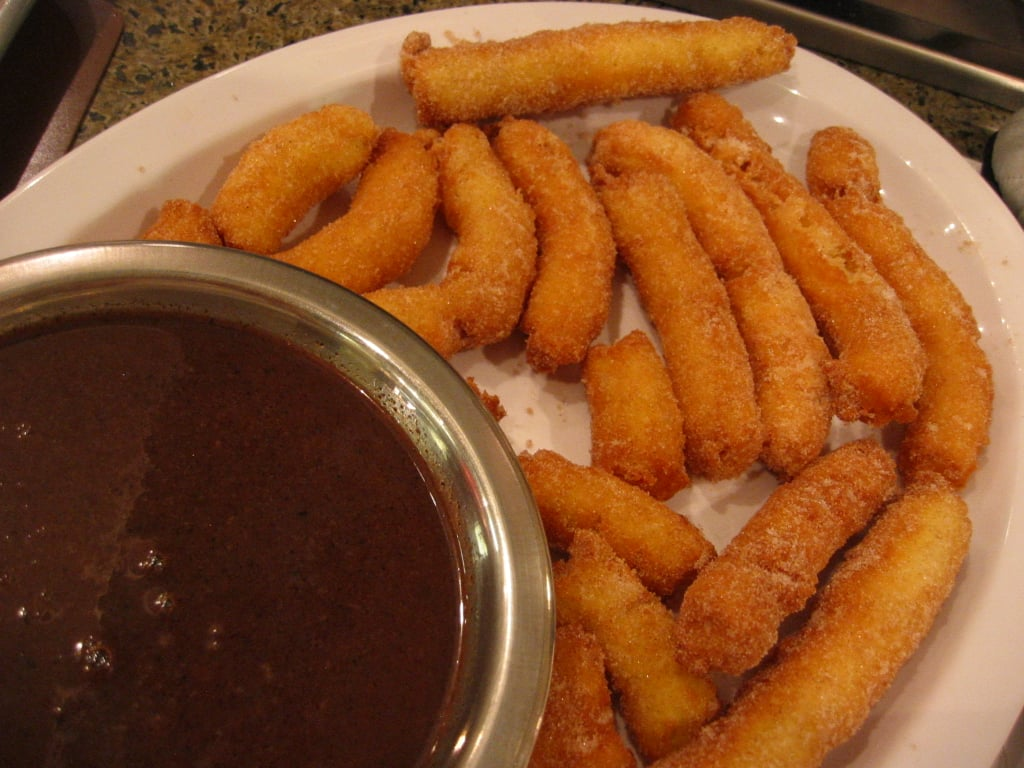 Cinnamon Churros With Hot Chocolate Dipping Sauce