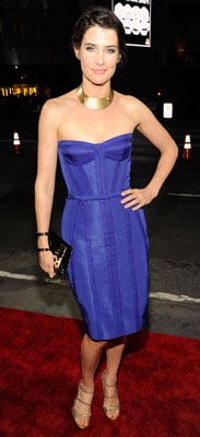 Cobie Smulders in Reem Acra at People's Choice Awards 2012