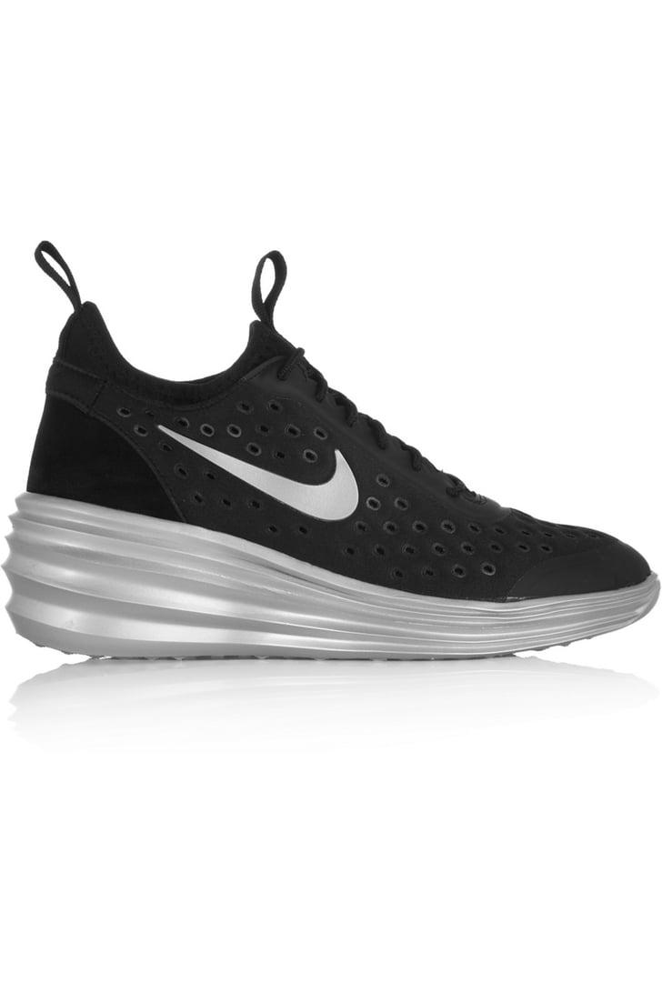 Nike Lunarelite Sky Hi Canvas Wedge Sneakers   Traffic ... Nike Fast Love Sky High Wedge Sneakers