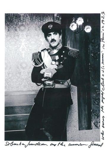 Lagerfeld's bodyguard Sebastien Jondeau as a Russian general.