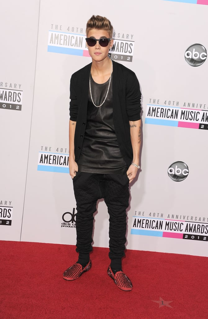 Justin Bieber arrived at the American Music Awards.
