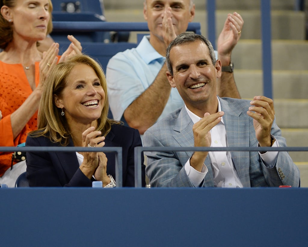 Katie Couric and her boyfriend, John Molner, took in a mens match.