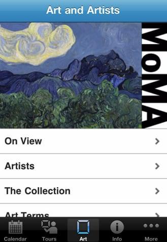 New MoMA iPhone App