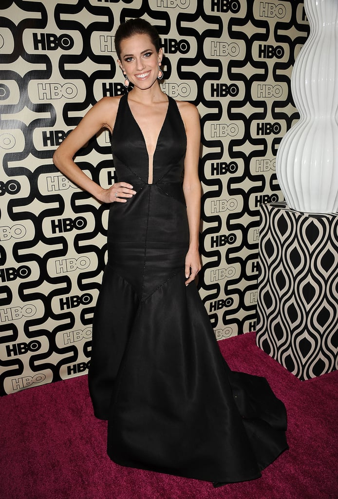 Allison attended the HBO afterparty for the Golden Globes in a plunging J. Mendel halter gown with Lorraine Schwartz jewels.